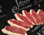 Picañas de carne roja